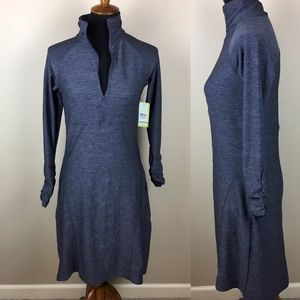 Soybu 1/2 zip long sleeve athletic dress size M